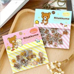 80 sztuk/partia śliczne Rilakkuma Mini papieru Stickerbag Diy Diary Planner naklejka dekoracyjna Album Scrapbooking Kawaii biuro