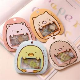 50 sztuk/partia (1 worek) Diy Cute Cartoon Kawaii naklejki pcv piękny kot niedźwiedź naklejki do pamiętnika dekoracji darmowa wy