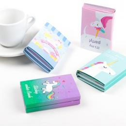 Jednorożec Party 6 składane Memo Pad N razy karteczki samoprzylepne notatnik notatnik zakładka prezent papiernicze