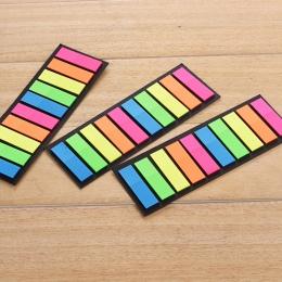 Kreatywny przezroczysty fluorescencyjne naklejki Planner indeks klasyfikacji naklejki BookMarker Memo Pad