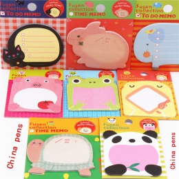 Uroczy 070 zwierząt serii Memo Pad karteczki samoprzylepne zakładka punkt to naklejki papieru biuro szkolne