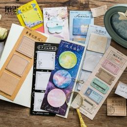 60 arkuszy/dużo kreatywny długi wersja kolorowe Memo Pad samoprzylepne karteczki samoprzylepne biurowe szkoła Memo Pad artykuły
