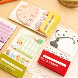 Piękne ładne zwierząt kot Panda karteczki Memo Pad papieru zakładki szkolne Planner naklejki koreański biurowe