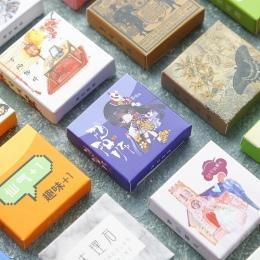 40 sztuk/pudło kolor śliczne marmuru dekoracja z naklejek papierowych naklejka album DIY Scrapbooking naklejka uszczelniająca bi