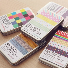 Korea południowa kreatywny piśmienne DIY dekoracyjne naklejki kolor ręcznie książki notatnik luźne liści Planner naklejki fala c