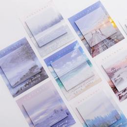 Kreatywny krajobraz podróży Memo Pad karteczki Memo Notebook papiernicze karteczki do notowania naklejki biurowe szkolne