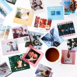 40 sztuk/partia Retro podróży Coffee Life etykiety karteczki Post Memo Pad Kawaii papiernicze artykuły szkolne Planner naklejki