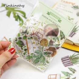 40-50 sztuk twórcze codzienne życie zielony rośliny koty memo pad terminarz sticky karteczki do notowania naklejki kawaii biurow