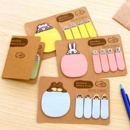 Nowy śliczne Kawaii zwierząt koreański królik owca biurowe Memo Pad Scrapbooking lepkie notatki książka papieru naklejki zakłade