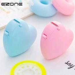EZONE cukierki kolor taśma maskująca taśma projekt miłość serca/pączek kształt taśma Washi frez biuro dozownik taśmy szkolne dos