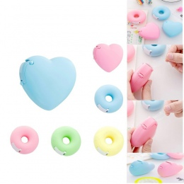 Gorąca sprzedaż przenośny piękny pączek/w kształcie serca w kształcie serca dozowniki taśmy Cartoon kolorowe rolki taśma organiz