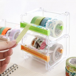 Mini papieru dozownik taśmy washi uchwyt dwa sawtooth taśmy frez biuro organizator biurko akcesoria szkolne A6071