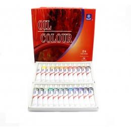 24 kolory 12 ML rury oleju zestawy farb profesjonalny olej kolory farby dla dzieci narzędzia do rysowania akrylowe malowanie kol