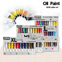 10/20 kolory 20 ML tuba Pebeo oleju zestawy farb profesjonalny olej kolory farby na rysunek artystyczny malarstwo akrylowe kolor