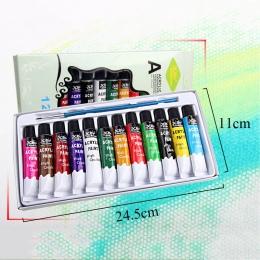 12 ml 12 kolory olejów zawodu farby akrylowe zestaw ręcznie malowane DIY szkło do paznokci ścianie rysunek malowanie tkanin narz