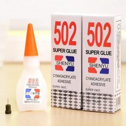 5 sztuk silny Super klej 502 cieczy dotykowy cyjanoakrylowy samoprzylepne gumowe z tworzywa sztucznego narzędzie biurowe biżuter
