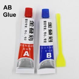 5 zestawów Super AB klej 302 silne cyjanoakrylowy płynna żywica epoksydowa skóry klej gumowy metalu szkła drewna dotknij Scren z
