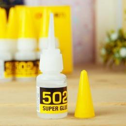 5 sztuk natychmiastowy płyn 502 Super klej dotykowy klej cyjanoakrylowy mocne gumy plastikowej skóry ceramika drewno papier narz