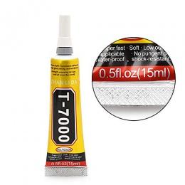 1 sztuk 15 ml przemysłowy wytrzymałości klej o wysokiej wytrzymałości T7000 czarny płyn klej do ekranu dotykowego DIY kij wiertł