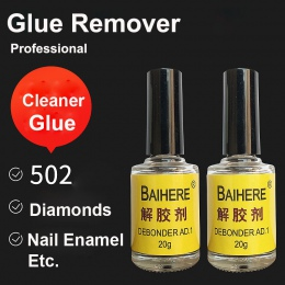 2 sztuk klejem w Debonder czyste dla Super UV przezroczysta żywica epoksydowa B7000 B6000 E8000 folia lakier do paznokci emalia