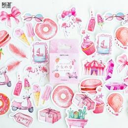 DIY Mohamm pudełko śliczne naklejki Scrapbooking etykiety japoński koreański pamiętnik papieru podróży Lifelog dziewczyna różowy