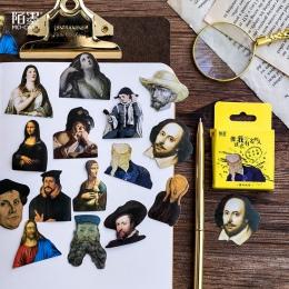 45 sztuk/partia sławnych ludzi Mini naklejki dekoracje DIY Scrapbooking naklejki biurowe Kawaii pamiętnik etykiety naklejki