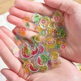 100 sztuk/paczka Mini przezroczysty 3D pcv kryształowe cukierki naklejki kreatywny zwierząt delfin owoce kot dekoracyjna naklejk