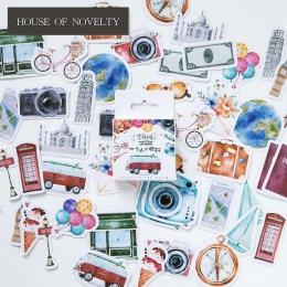Jedna osoba podróży dekoracyjne naklejki naklejki samoprzylepne DIY dekoracje pamiętnik papeterii naklejki dla dzieci prezent