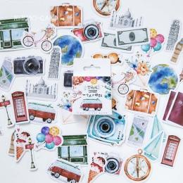 46 sztuk/worek Diy śliczne Kawaii dziewczyna dokumenty podróży naklejki w stylu Vintage romantyczny do pamiętnika dekoracji Scra