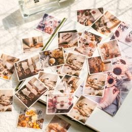 60 sztuk/paczka naklejki papiernicze stare życie planowanie pamiętnik dekoracyjne mobilne naklejki Scrapbooking DIY Craft naklej
