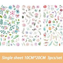 3 sztuk/zestaw śliczne kwiaty Totem Memo naklejki opakowanie wysłałem ją do Kawaii Planner Scrapbooking naklejki biurowe Escolar