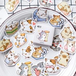 Mój kot dekoracyjne naklejki naklejki samoprzylepne DIY dekoracje pamiętnik japoński biurowe naklejki dla dzieci prezent