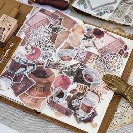 64 sztuk/partia dzienniku japoński papier kwiat w stylu Vintage kalendarz kawy dekoracyjne pamiętnik śliczne naklejki Scrapbooki