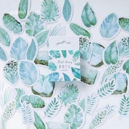45 sztuk/partia kreatywny śliczne liście Mini dekoracja z naklejek papierowych Diy album pamiętnik etykiety Scrapbooking naklejk