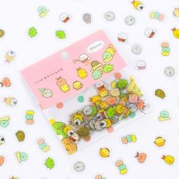 80 sztuk/paczka Cute Cat Mini pcv naklejki Cartoon Sumikko Gurashi dekoracje DIY album pamiętnik Scrapbooking naklejki etykiety