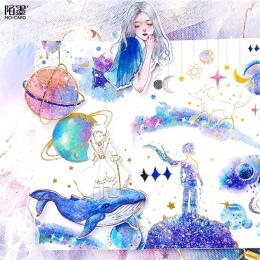 Mohamm wieloryb Kawaii dziennik pamiętnik moja melodia japoński małe Diy podróży papier śliczne naklejki Scrapbooking płatki art