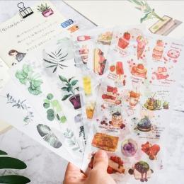 3 PC podróży zwierząt ciasto ręcznie malowane dekoracyjne w stylu Vintage dzienniku pamiętnik papieru kwiat roślin naklejki Scra