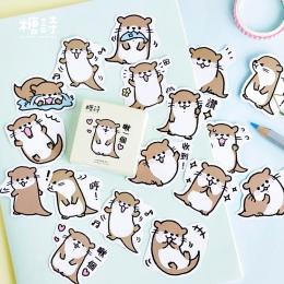 Wydra zwierząt dekoracyjne naklejki Washi naklejki Scrapbooking kij etykieta pamiętnik papeterii Album naklejki