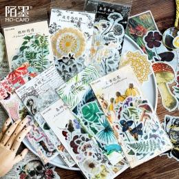 60 sztuka/paczka Vintage brązujący czaszka kwiaty roślin kaktus wykres bajki tropikalnym klimatem naklejki DIY Scrapbooking nakl