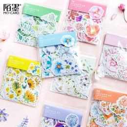 45 sztuk/paczka Mohamm japoński Decoracion Journal śliczne pamiętnik kwiat naklejki Scrapbooking płatki papiernicze artykuły szk