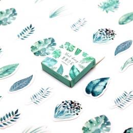 45 sztuk/paczka Kawaii liści mięty wzór Decoracion pamiętnik boże narodzenie naklejki Scrapbooking papiernicze naklejki materiał