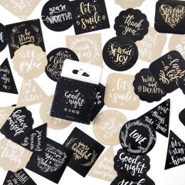 45 sztuk/paczka słodkie angielskie błogosławieństwo dekoracyjne naklejki naklejki samoprzylepne DIY dekoracje Craft Scrapbooking
