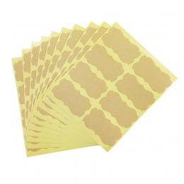 80 sztuk/partia ręcznie naklejki w stylu Vintage puste Kraft etykiety naklejki DIY ręcznie wykonane na prezent pieczenia pieczen