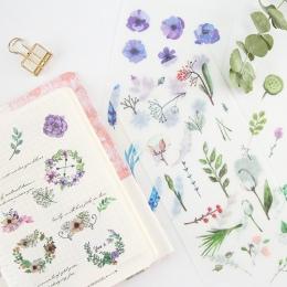 6 sztuk/paczka naturalne dzieci dekoracyjne naklejki naklejki samoprzylepne DIY dekoracje pamiętnik papeterii naklejki dla dziec