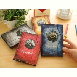 Harry Potter Notebook Planner magiczna książka pamiętnik z 2019-2020-2021 kalendarz Retro twarda okładka Agenda harmonogram Grim