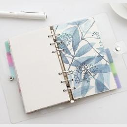 A5 A6 A7 pcv PP 5 arkusz Planner przekładki do luźny segregator spirali notebooka pamiętnik, tygodniowy, organizator akcesoria w