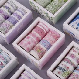 10 sztuk/pudło Fantasy ocean piękne kwiaty roślin taśma washi diy dekoracji do scrapbookingu taśma klejąca taśma