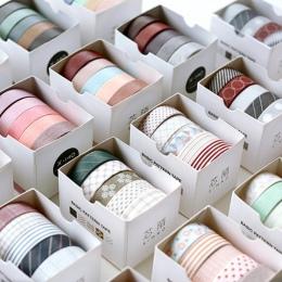 5 sztuk/paczka w paski/siatka/kwiaty podstawowe jednolity kolor Washi taśma klejąca taśma DIY do scrapbookingu naklejki etykiety