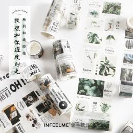 Czas wolny z serii Washi taśma klejąca taśma DIY do scrapbookingu naklejki etykiety taśma maskująca szkolne materiały papiernicz