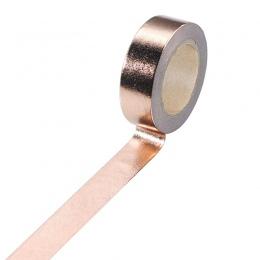 15mm * 10 m złota taśmy Washi Tape srebrny/złoty/brązowy/różowy/zielony kolor japoński Kawaii DIY scrapbooking narzędzia taśma m